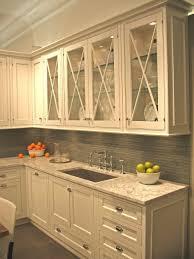 update kitchen cabinets with glass inserts hgtv regarding