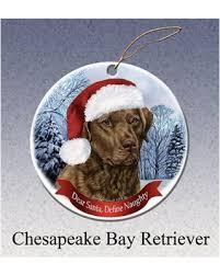 deal alert chesapeake bay retriever howliday ornament