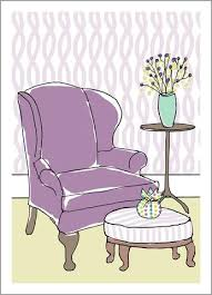 Purple Armchair Birthday Cards U2013 Mollyocards