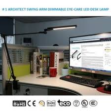 Swing Arm Desk Lamp With Clamp Byb Metallic Dimmable Led Desk Lamp Eye Caring Table Lamp Slim