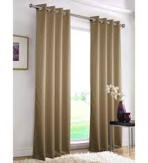 Blackout Door Curtains Buy Brown Polyester 55 X 84 Inch Erba Plain Blackout Door Curtain