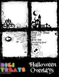 50 off halloween overlays 4 scrapbook border overlays photo