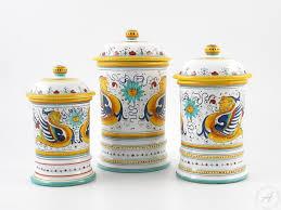 italian kitchen canisters raffaellesco canisters handmade deruta kitchenware thatsarte