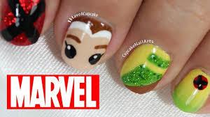 marvel nail art rogue youtube