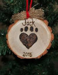 pet paw print ornaments all you need is some sculpey clay paint