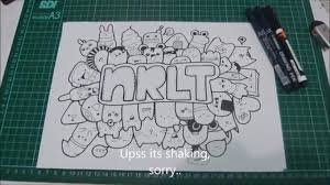 doodle with name simple easy doodle nrlt 1