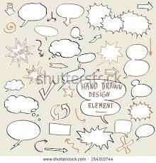 vector set think bubble talk bubble stock vector 154310744