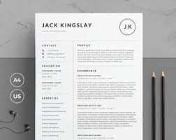 Resume Template For Pages Resume Template 4 Pages Cv Template Cover Letter For Ms