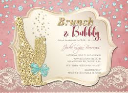 bridal shower invitations brunch diamond brunch and bubbly bridal shower invitation brunch