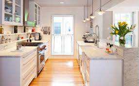 picturesque small galley kitchen layout ideas polkadot homee ideas