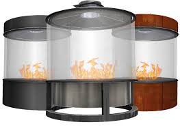 circular fireplaces custom commercial gas fireplace designs
