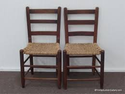 Antique Oak Ladder Back Chairs Estate U0026 Consignment Live Auction Online Pre Bids 3 7 15 In
