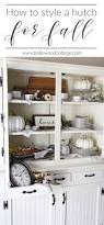 Decorating A Hutch How To Style A Fall Farmhouse Hutch Bellewood Cottage