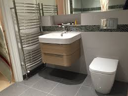 Avenir Bathroom Accessories by Rectified Matt Grey Tile Geberit Bolero Flush Plate Garside