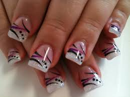 pink white black nail design choice image nail art designs