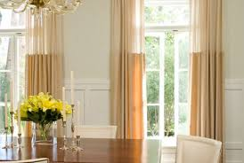 Designer Drapes Pair Of Sheer Top Linen Panels Rod Pocket Designer Curtains