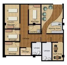 Rendered Floor Plans by Floor Plans 3d Salon Floor Plan Massage Clinic Floor Plan Grand