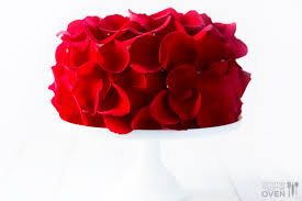 Real Rose Petals Rose Cake Food Craft Ideas