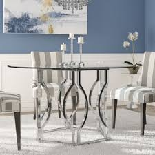 Glass Dining Room Sets | glass kitchen dining tables you ll love wayfair