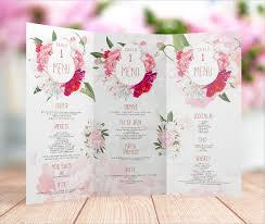 menu templates for weddings menu template