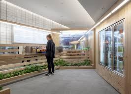kilogram studio designs cedar interior for toronto juice bar