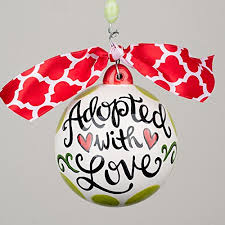 adoption ornament with free personalization home