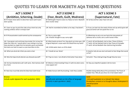themes of macbeth act 2 scene 1 macbeth differentiated activity on quotes that link to themes for