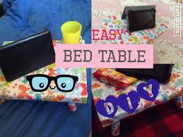 how to make a bed table how to make bed table diy ideas easy tutorial youtube