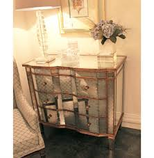 Silver Leaf Nightstand Golded Nightstand Glamorous Nightstands The Mine Gold Mirrored