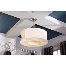 Drum Shade Chandelier Lowes Shop Allen Roth 30 In Sun Valley Brushed Nickel Ceiling Fan With