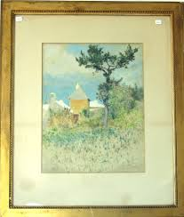 Landscape With Houses by Bermuda Landscape With Houses Ross Turner 1891 Watercolor 18 5