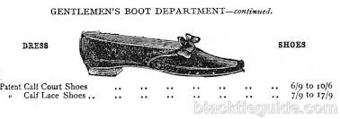 harrods s boots black tie guide vintage footwear