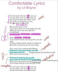 Comfortable Lyrics Lil Wayne First Semester Portfolio