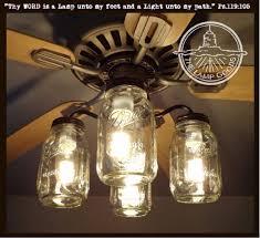 Chandelier Ceiling Fan Light Kit Mason Jar Ceiling Fan Light Kit New Quart Jars The Lamp Goods
