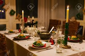 Christmas Dining Room Decorations Holiday Dining Room Stock Photos Royalty Free Holiday Dining Room