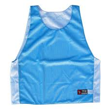 28 Light Blue And White Baby Blue And White Reversible Lacrosse Pinnie By Tribe Lacrosse