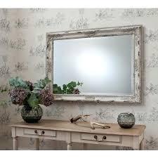 shabby chic wall mirror with shelf french grey shabby chic mirror