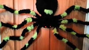 halloween party decoration prop animated huge dropping spider with
