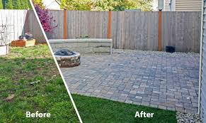 Backyard Paver Patios Backyard Transformation In Tumwater Ajb Landscaping Fence