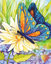 butterfly with flower from artibalta painting kits