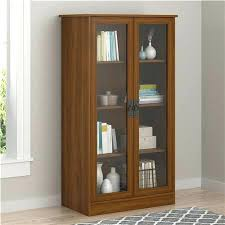 Metal Bookcase With Glass Doors Glass Bookcase Shelves Point Bookcase With Glass Doors Brown Oak