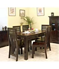 Wood Furniture Rate In India Offer On Saraf Furniture Solid Wood Kuber Dining 6 Seater Price In