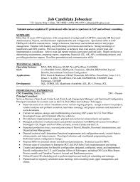 Job Developer Resume by Sap Business Objects Developer Resume Free Resume Example And