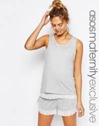 maternity nursing asos maternity nursing layer lace trim pyjama vest