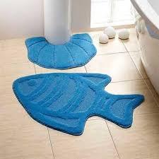 Fish Bath Rug Fish Bathmat Sea Bath Decor Fish Mat Handmade Rug