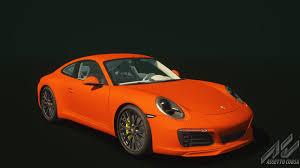 lava orange porsche porsche 911 carrera s porsche car detail assetto corsa database