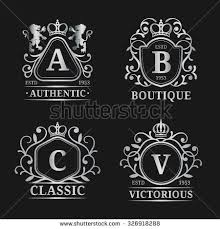 Crown Business Cards Vector Monogram Logo Template Luxury Letter Stock Vector 324049970