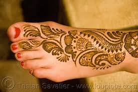 foot mehndi henna temporary tattoo