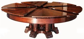 expanding circular dining table high tech dining table rotates expands doubles in size