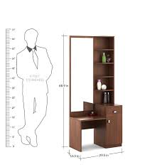 total look rigato buy kosmo premium dressing table in walnut rigato woodpore melamine
